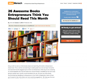 "IdeaMensch: ""26 Awesome Books"""