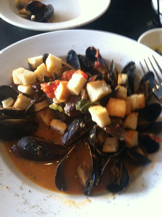 What's a seafood conference without some seafood? These mussels were from Figs.