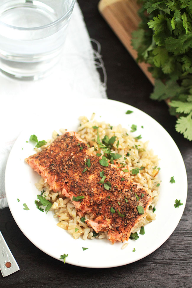 ... Seafood Blog Project | Spice-Rubbed Salmon with Spicy Cilantro-Lime