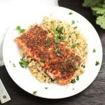 Spice-Rubbed Salmon with Cilantro-Lime Rice